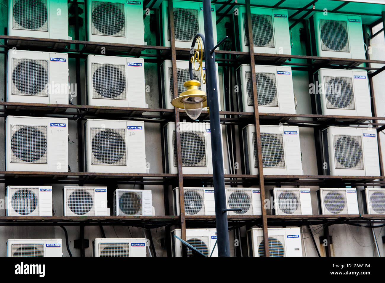 Group of Air Conditioner External Fans - Stock Image