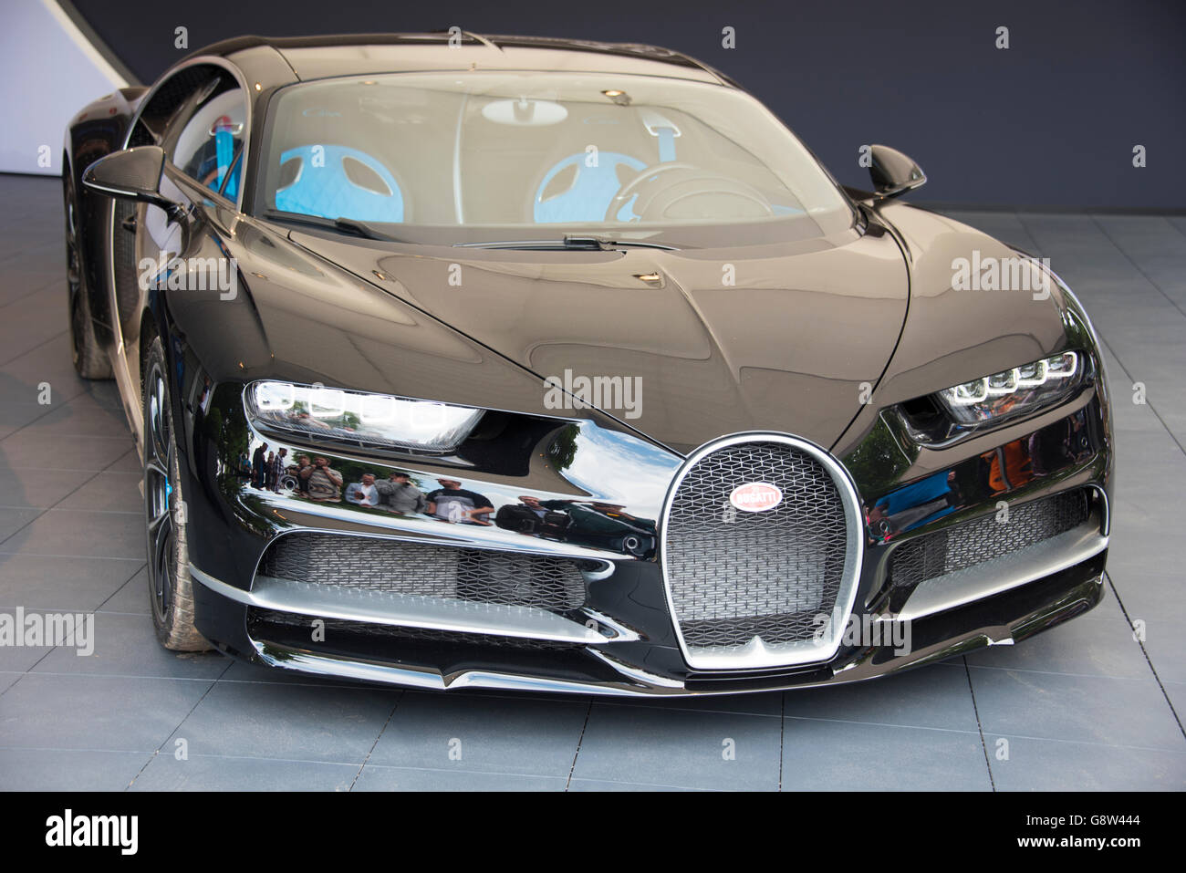 Bugatti Chiron 1500 BHP at Goodwood - Stock Image