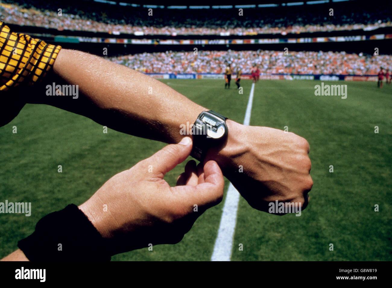 Soccer - World Cup USA 1994 - Group F - Belgium v Saudi Arabia - RFK Memorial Stadium - Stock Image