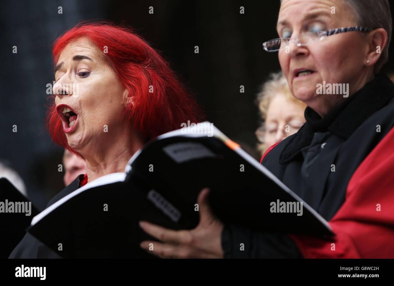 Handel's Messiah performance - Stock Image