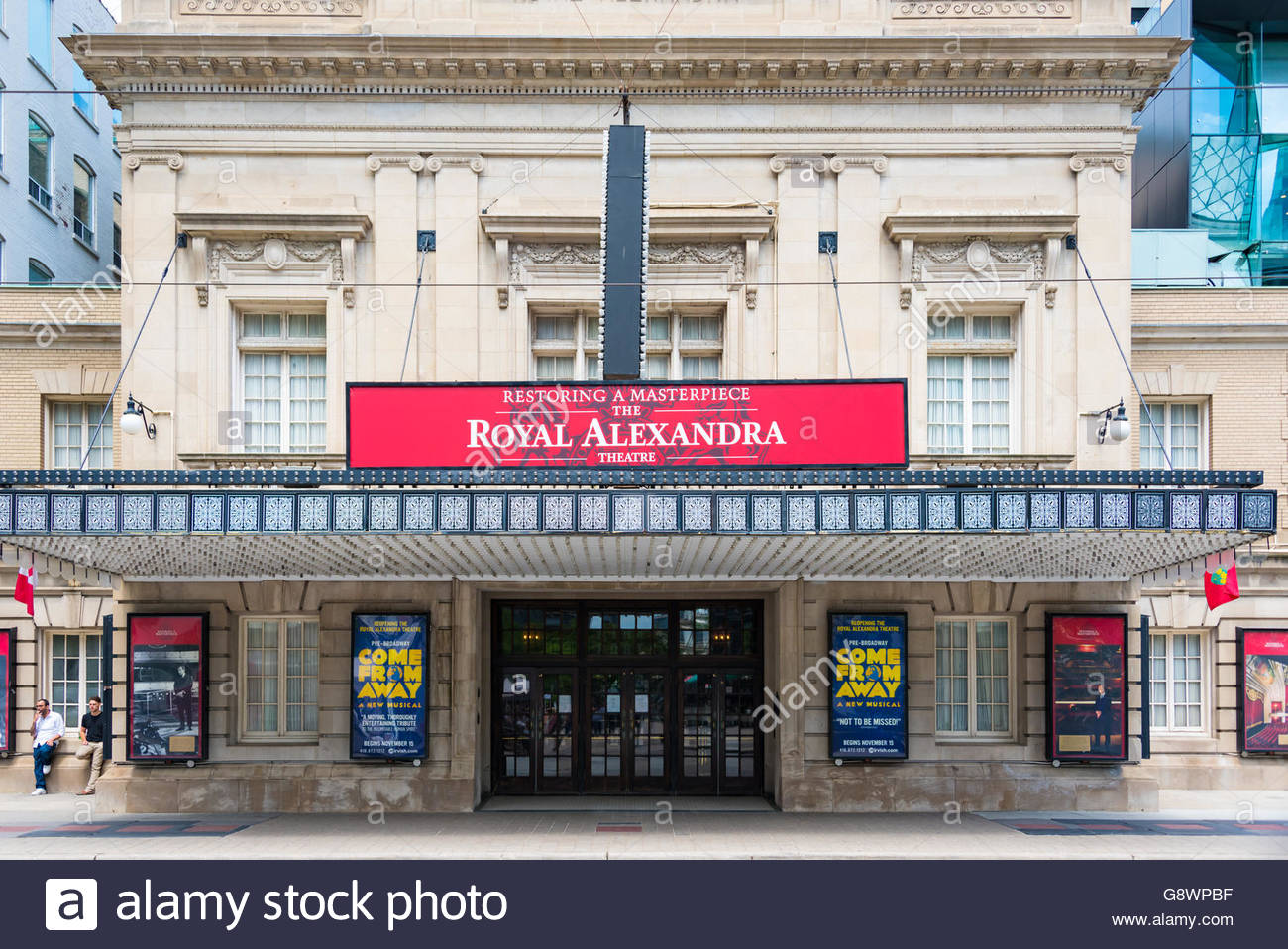 The Royal Alexandra Theatre is a theatre on a sunny bright spring day. The 1,497-seat Royal Alex is the oldest continuously - Stock Image