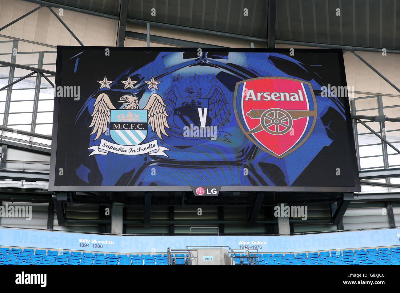 Manchester city led banners