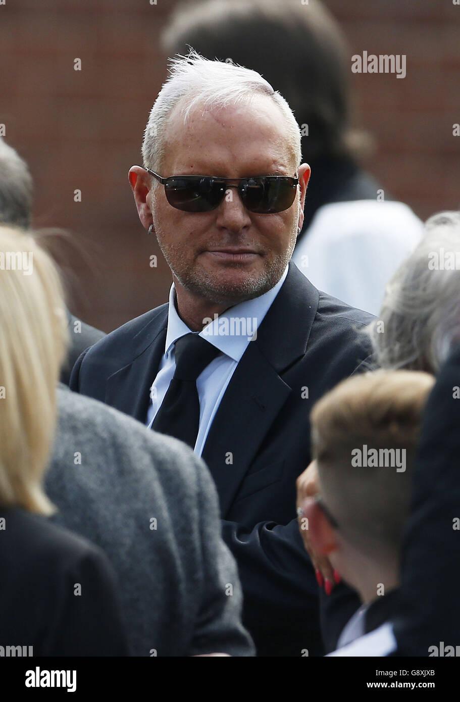 Jay Kerrigan-Gascoigne funeral - Stock Image