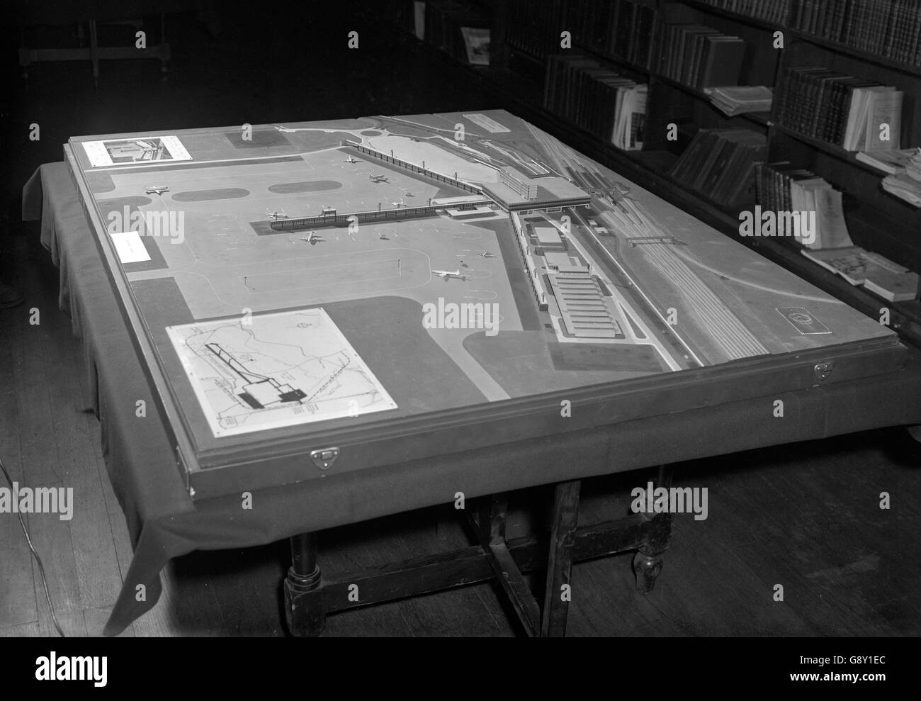 Model of Gatwick Airport - London - Stock Image