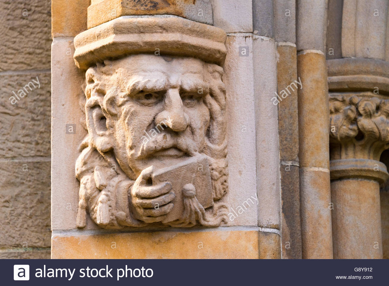 U Of T Or University Of Toronto: Trinity College, Hand Carved Gargoyles As  Decorative Architecture Design. The Landmark Features Jacobethan Tudor ...