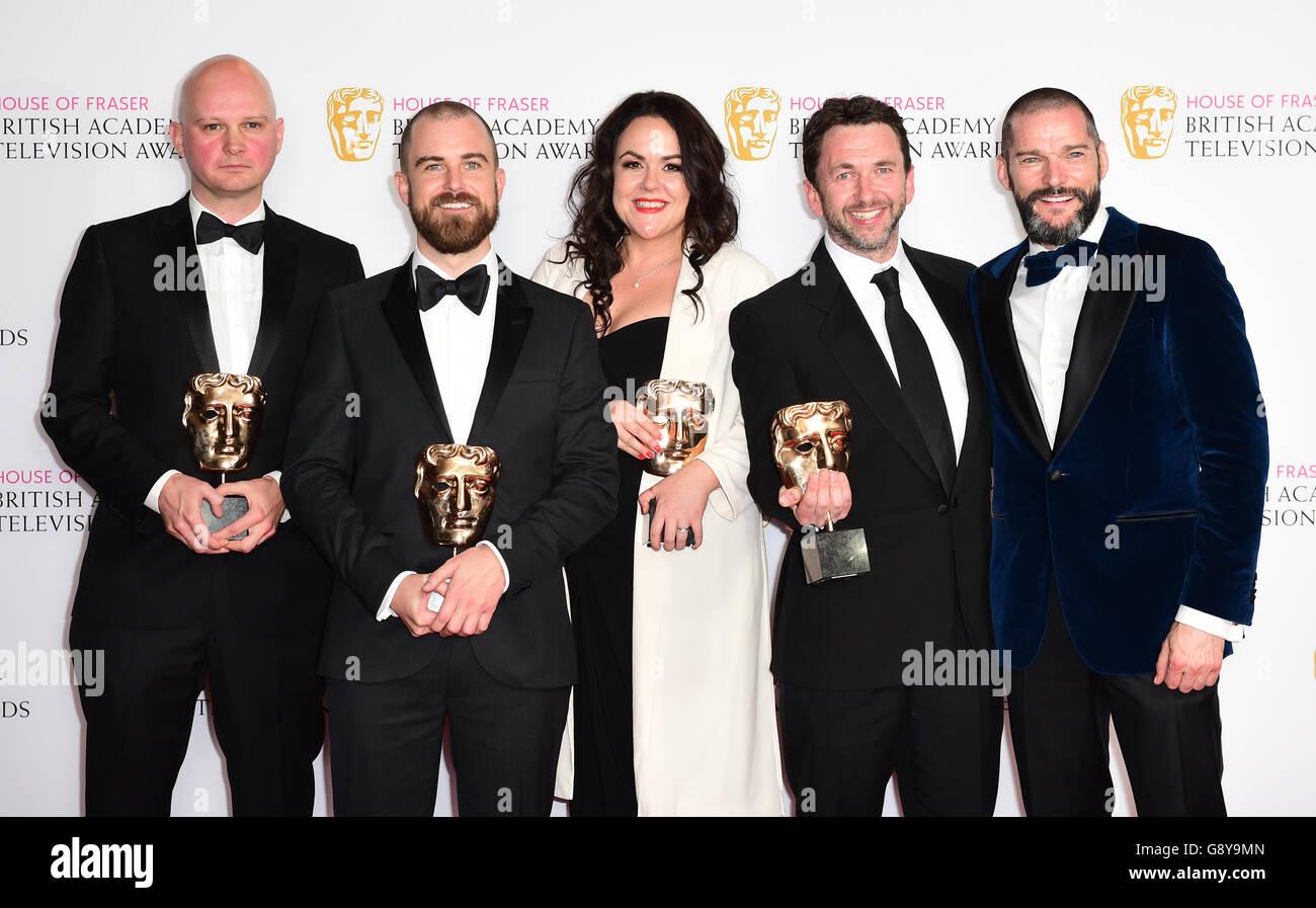 House of Fraser BAFTA TV Awards 2016 - Press Room - London - Stock Image