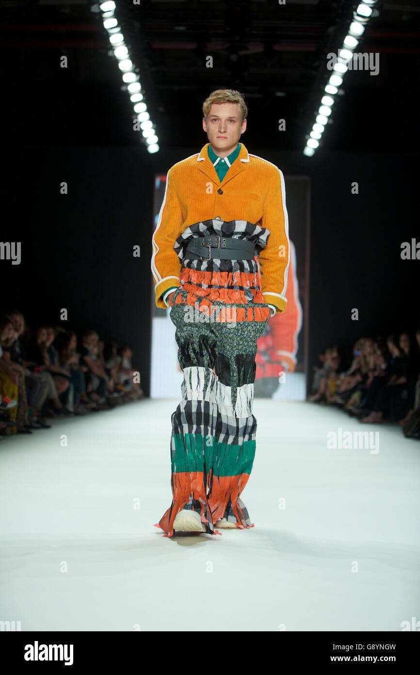 Berlin Germany June Models Present Collection Japanese Designers Head Prep School Spring