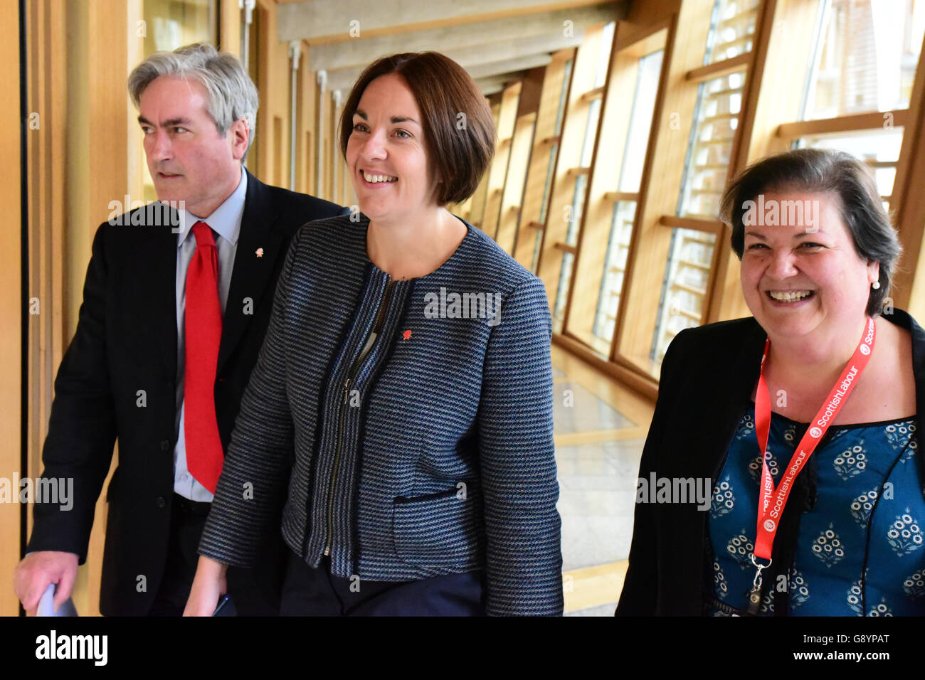 Edinburgh, Scotland, United Kingdom, 30, June, 2016. Scottish Labour leader Kezia Dugdale (C) on her way to First - Stock Image