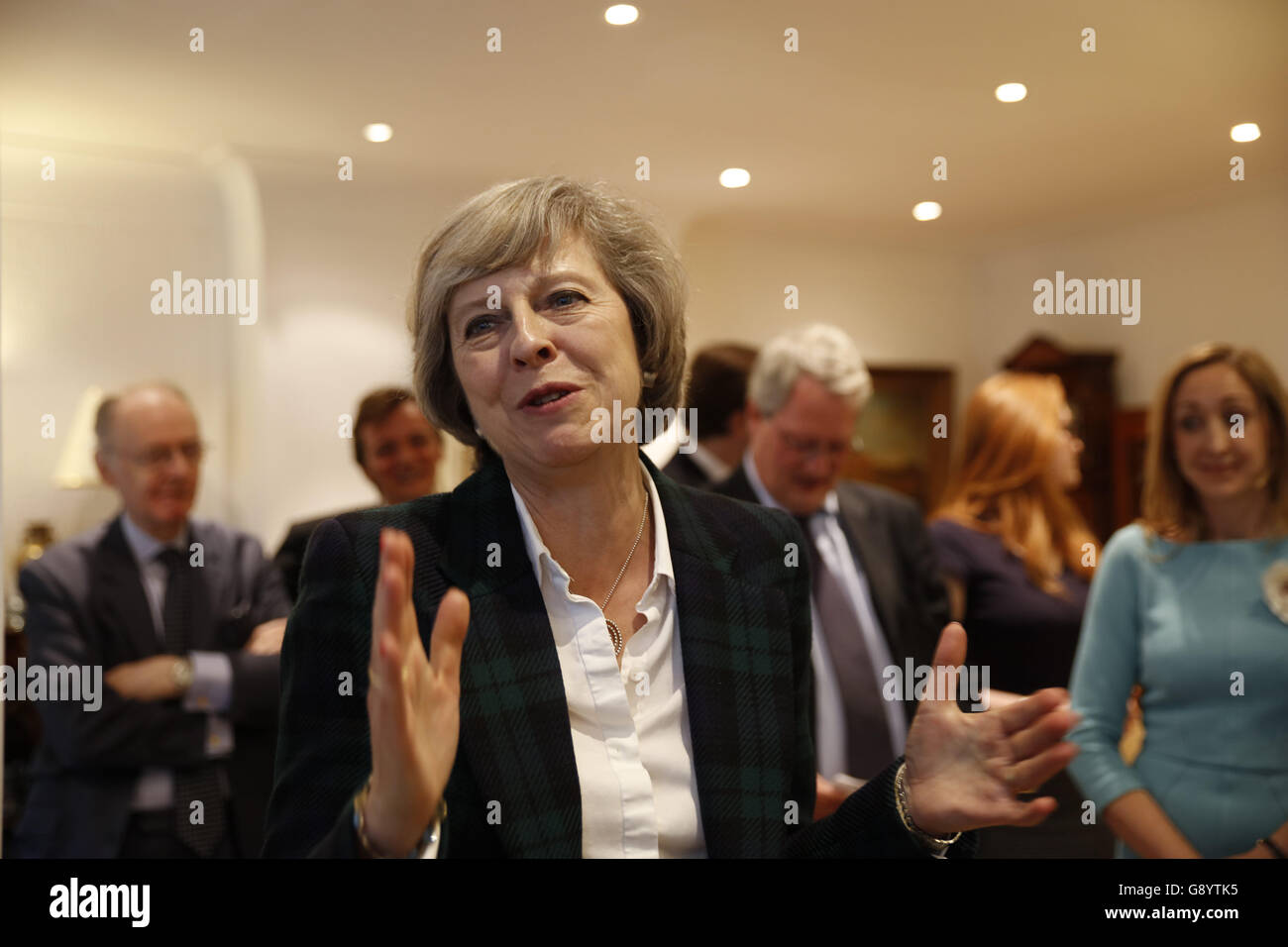 London, UK, 30th June, 2016. Theresa May gives a talk on the Brexit and local matters to the Hampstead and Kilburn - Stock Image