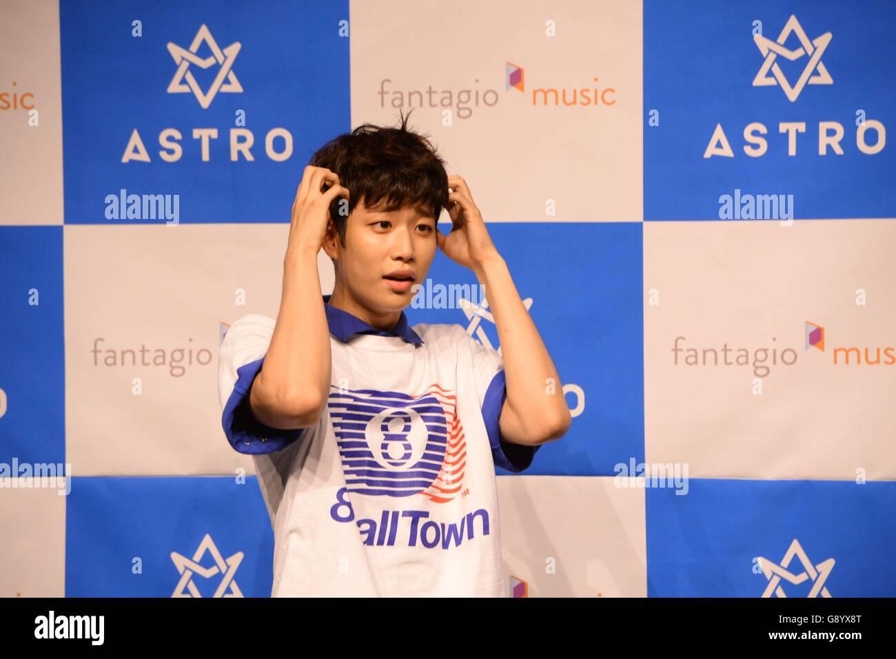 Seoul, Korea  30th June, 2016  Idol group ASTRO hold