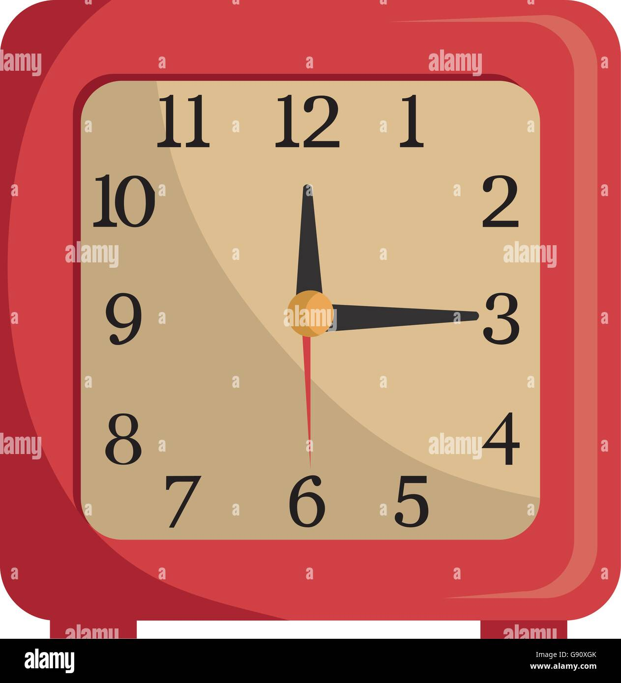 colorful table clock, vector graphic Stock Vector Art & Illustration ...