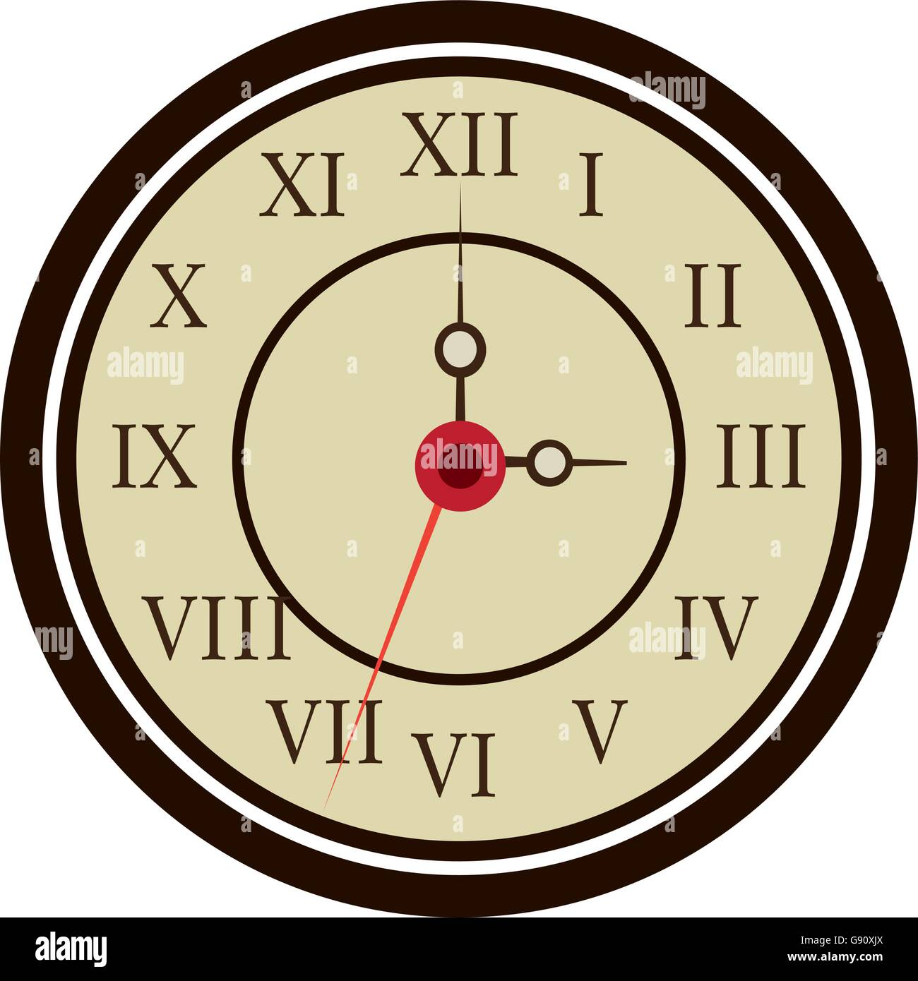 colorful old clock, vector graphic Stock Vector Art & Illustration ...