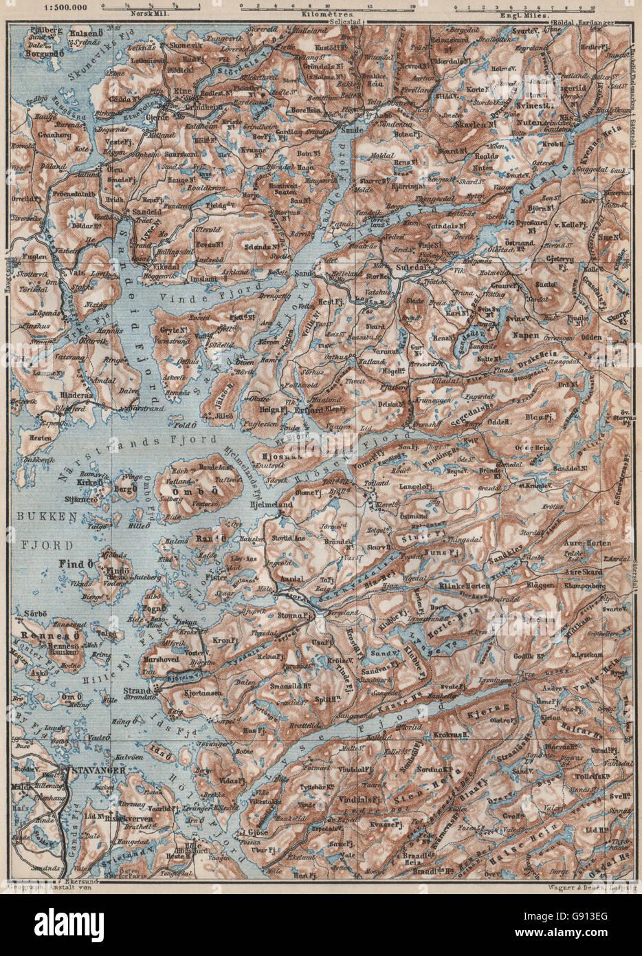 Karta Norge Stavanger.19th Century Norway Map Stock Photos 19th Century Norway Map Stock