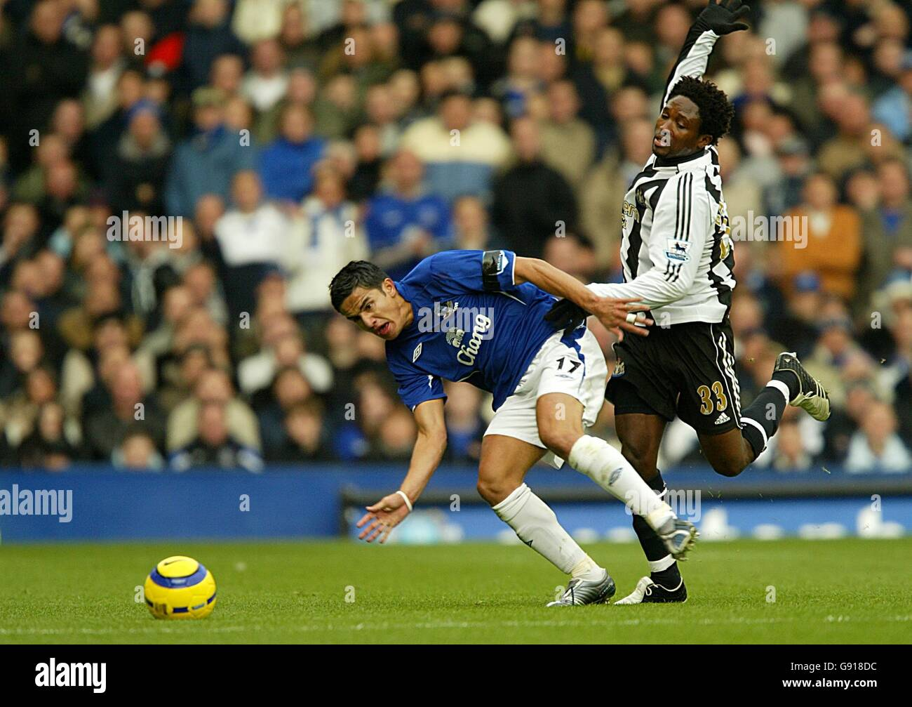 Soccer - FA Barclays Premiership - Everton v Newcastle United - Goodison Park - Stock Image
