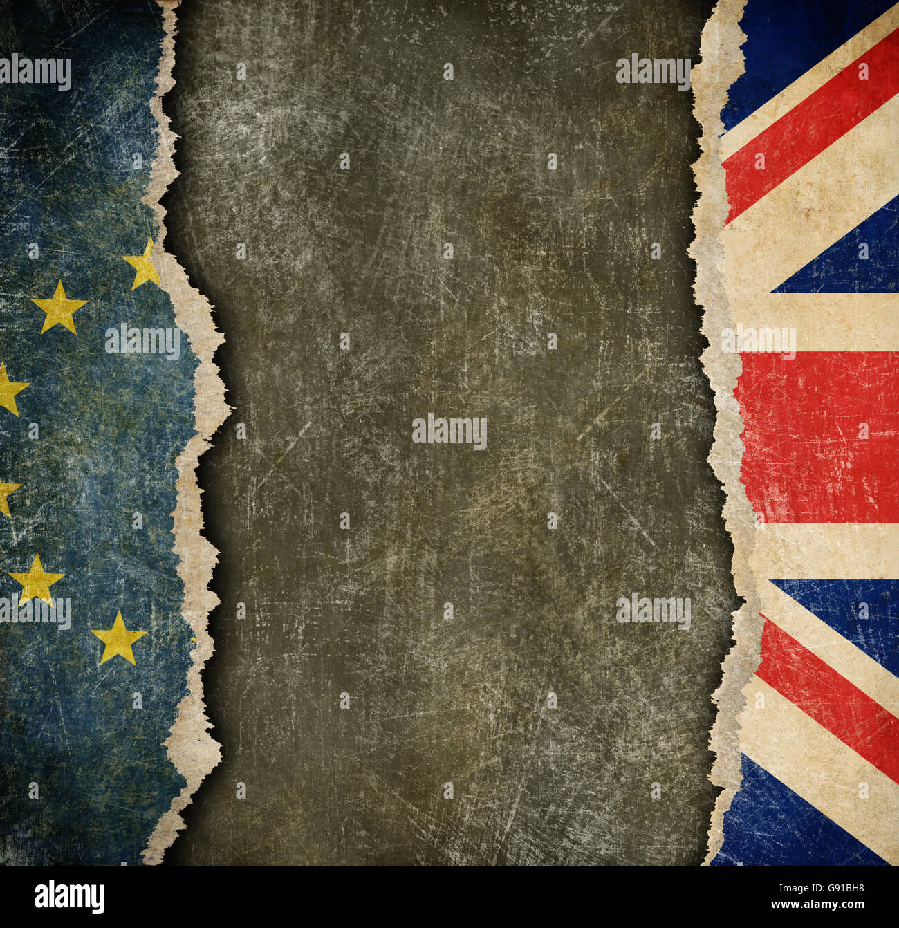 Great Britain withdrawal from European union brexit concept - Stock Image