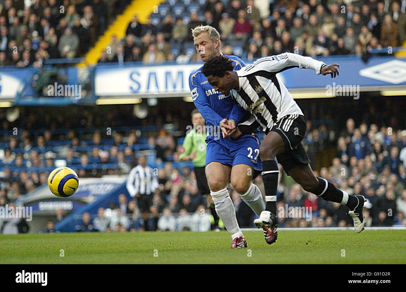 Soccer - FA Barclays Premiership - Chelsea v Newcastle United - Stamford Bridge - Stock Image