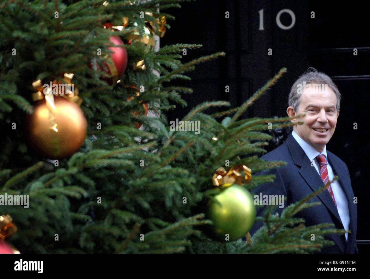 Tony Blair in 10 Downing Street - London Stock Photo