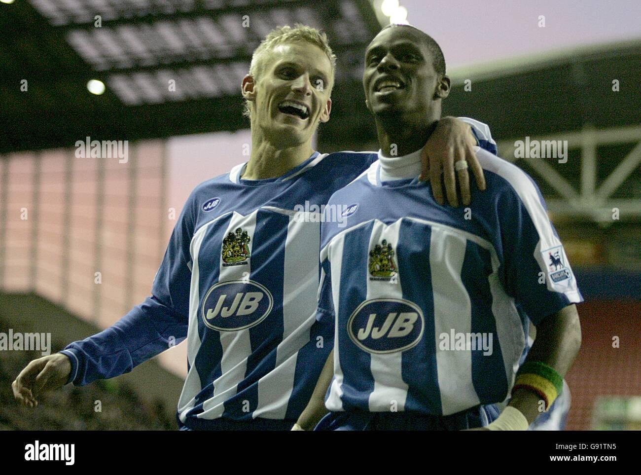 Soccer - FA Barclays Premiership - Wigan Athletic v Charlton Athletic - JJB Stadium - Stock Image