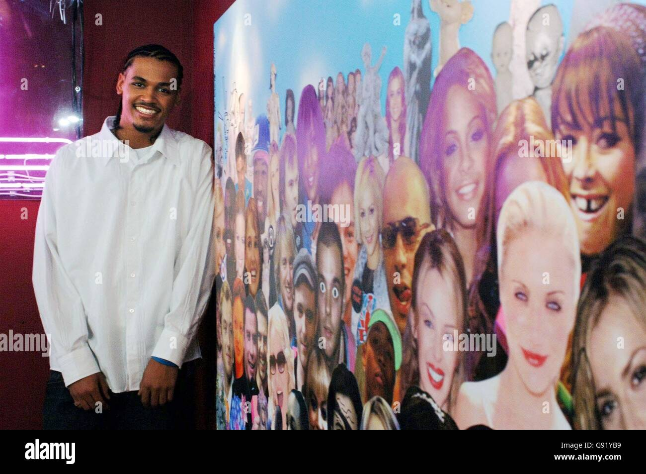 X Factor's Nicholas appears on MTV TRL on Thursday 24 November 2005 in Leicester Square, Central London. PRESS - Stock Image
