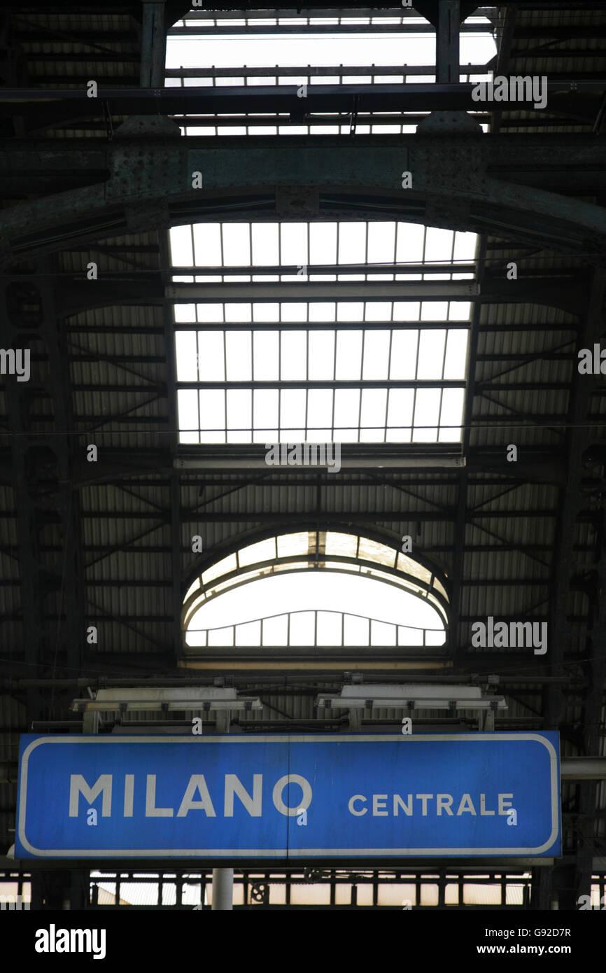 Milano Centrale railway station, Italy. - Stock Image