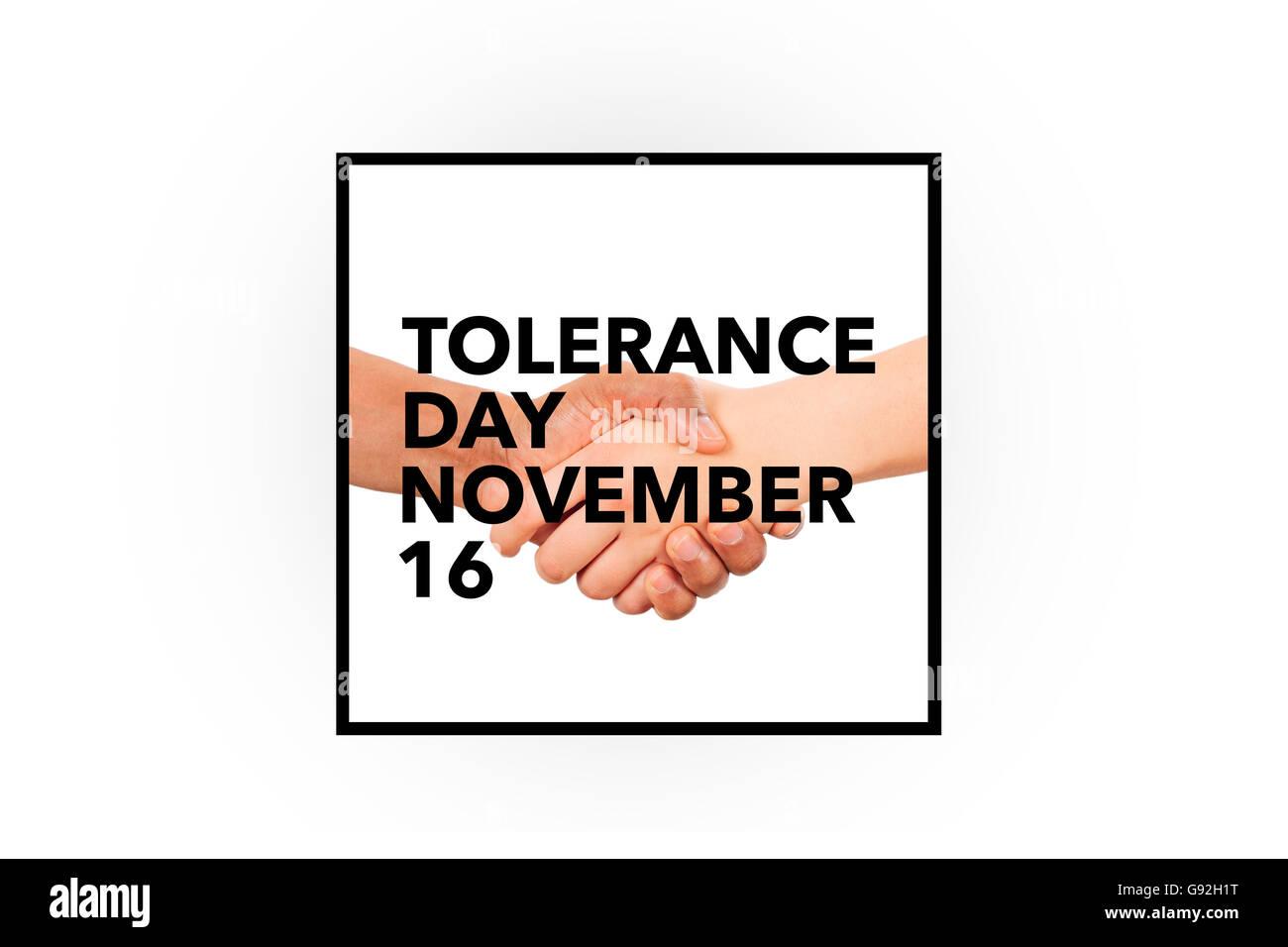 international tolerance day - Stock Image
