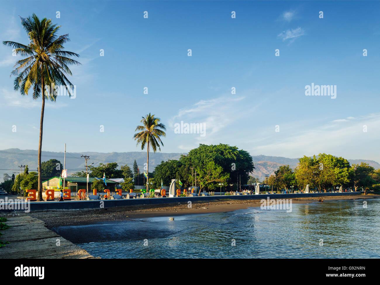 central dili city seaside promenade in east timor Stock Photo