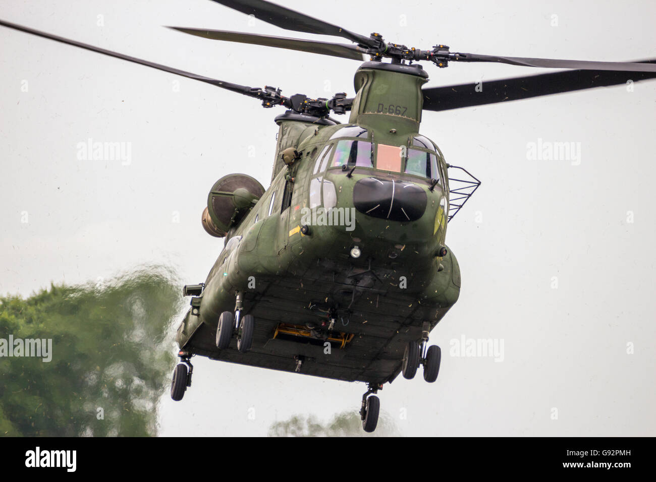 Boeing CH-47 Chinook transport helicopter - Stock Image