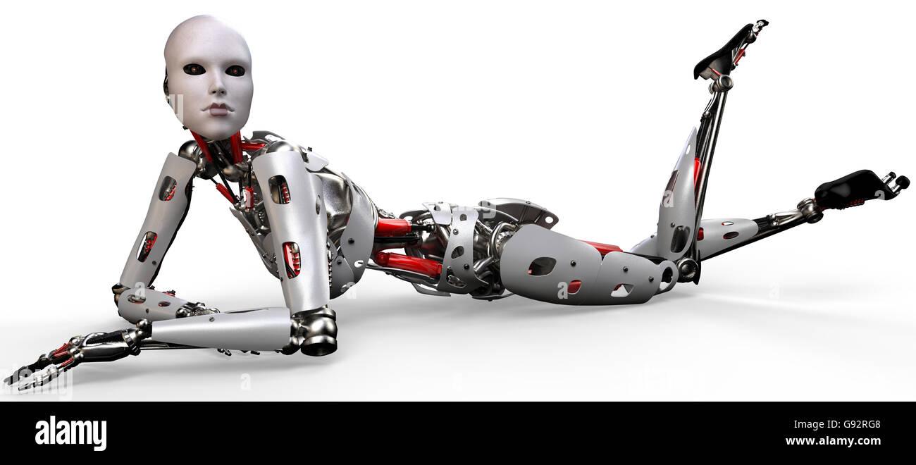 she robot - Stock Image