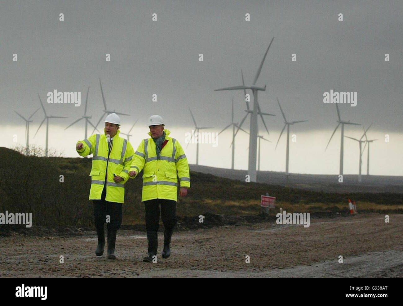 SCOTLAND Windfarm - Stock Image
