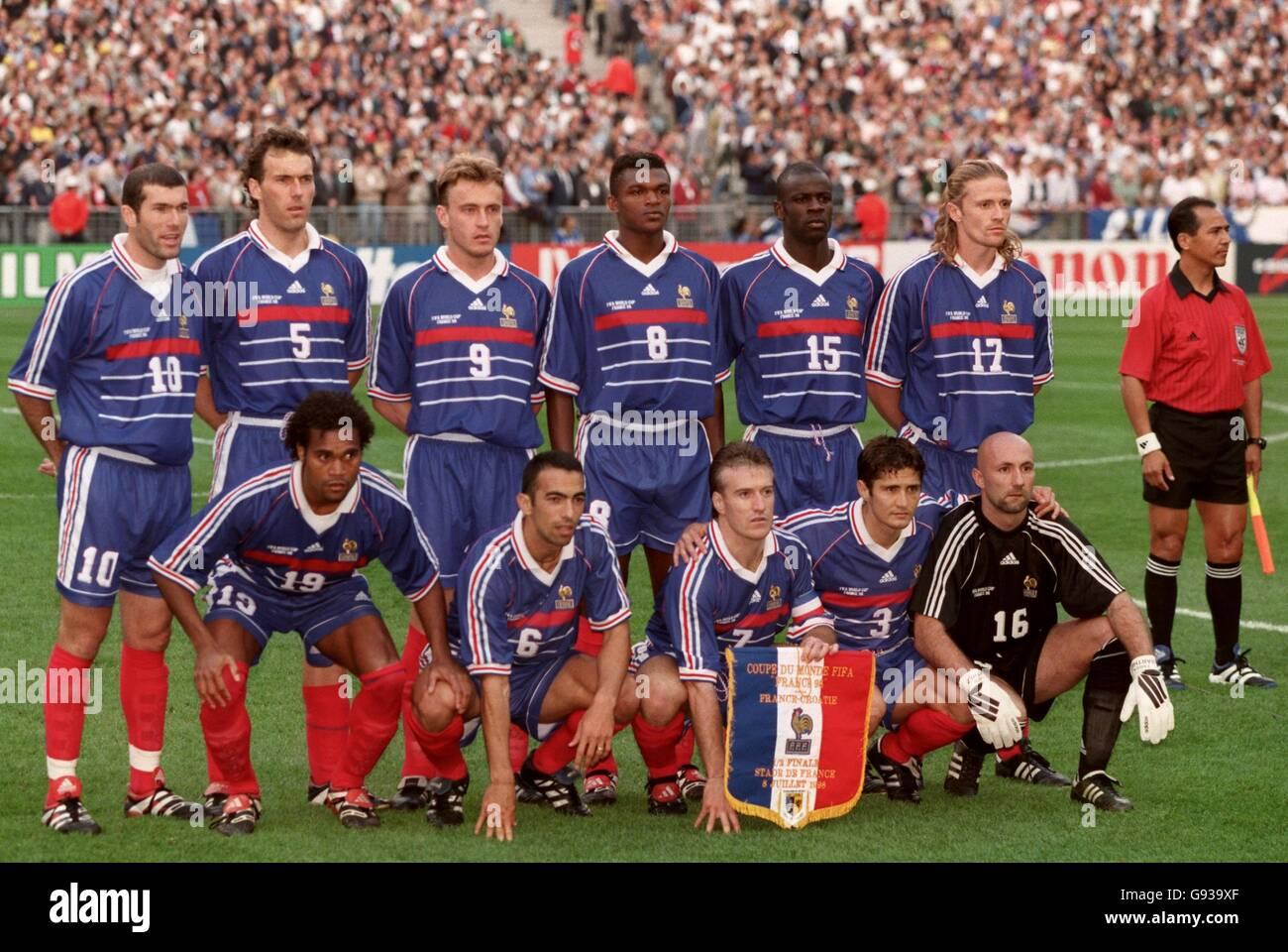 e29b8ce4aa7 Soccer - World Cup France 98 - Semi Final - France v Croatia Stock ...