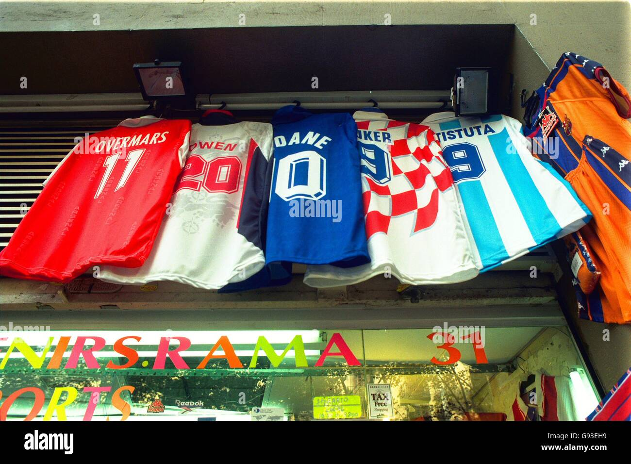 Spanish Soccer - Barcelona Club Shop - Stock Image
