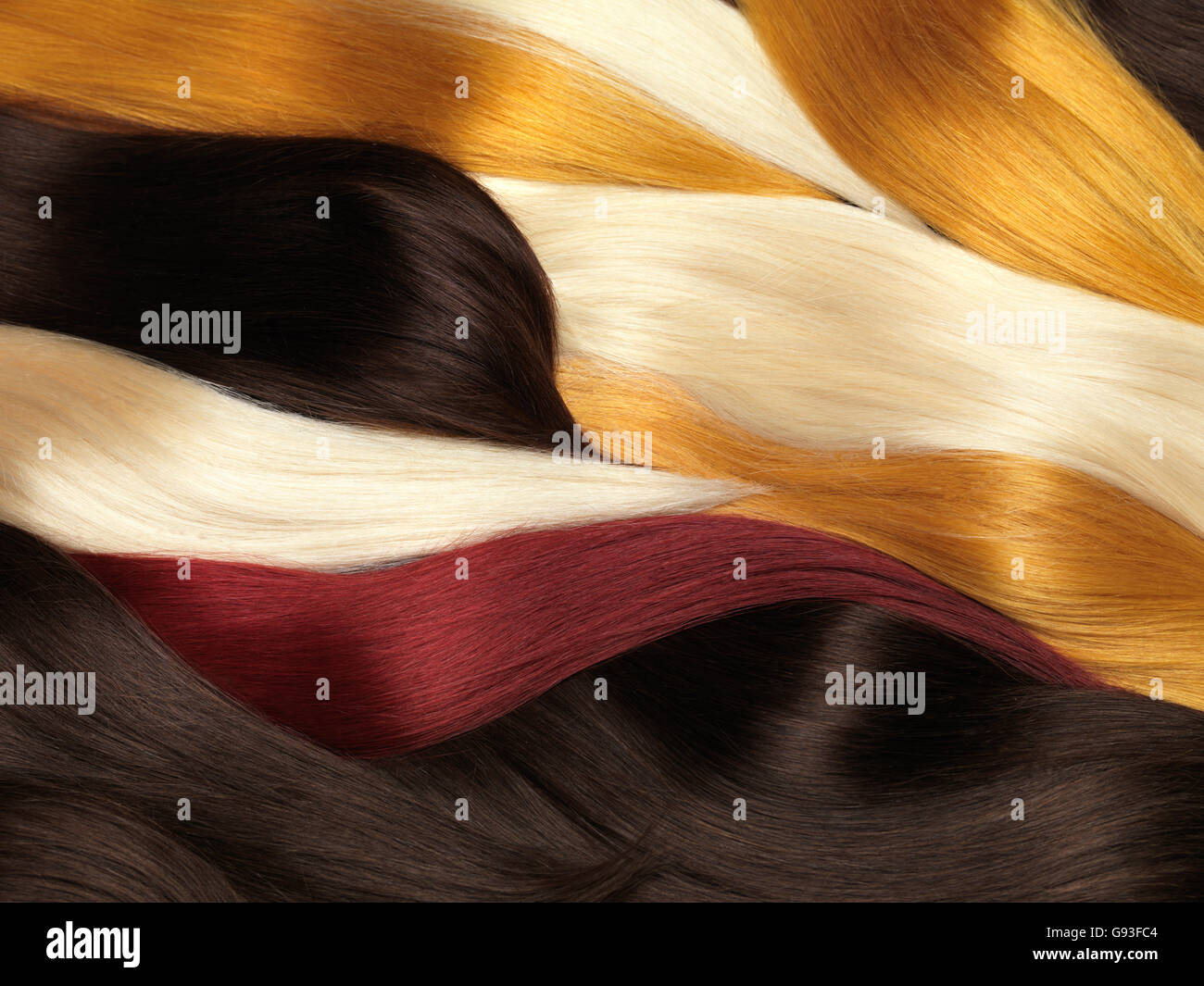 Multicolored Hair Extensions Stock Photos Multicolored Hair