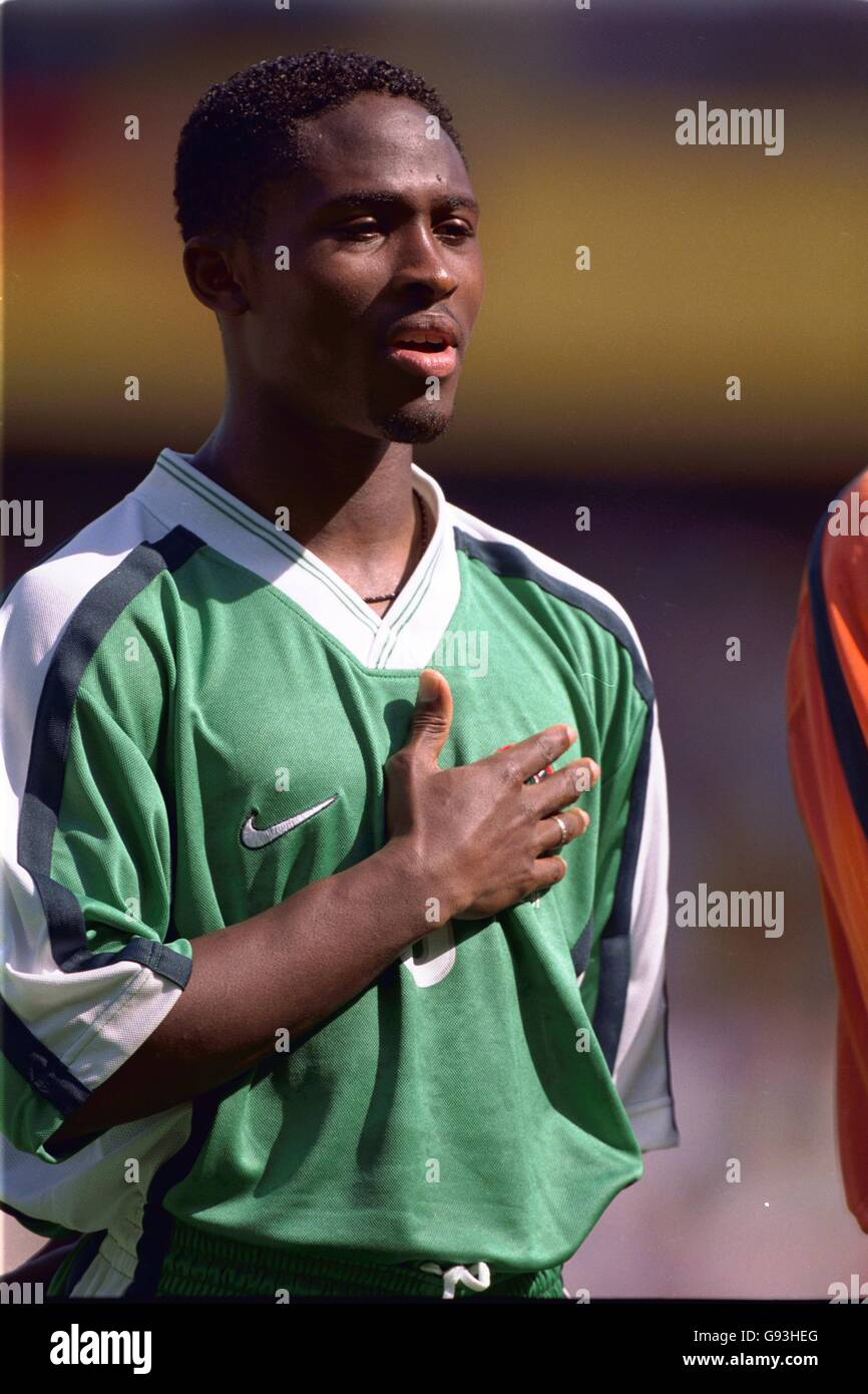 Soccer - World Cup France 98 - Group D - Nigeria v Bulgaria - Stock Image