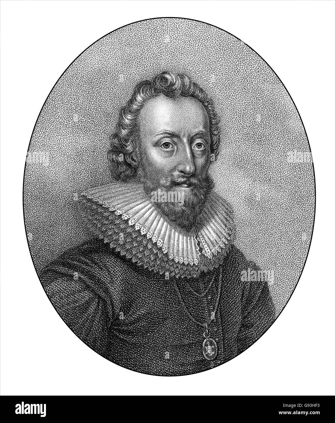 William Alexander, 1st Earl of Stirling, 1567-1640, a Scottish courtier and poet - Stock Image