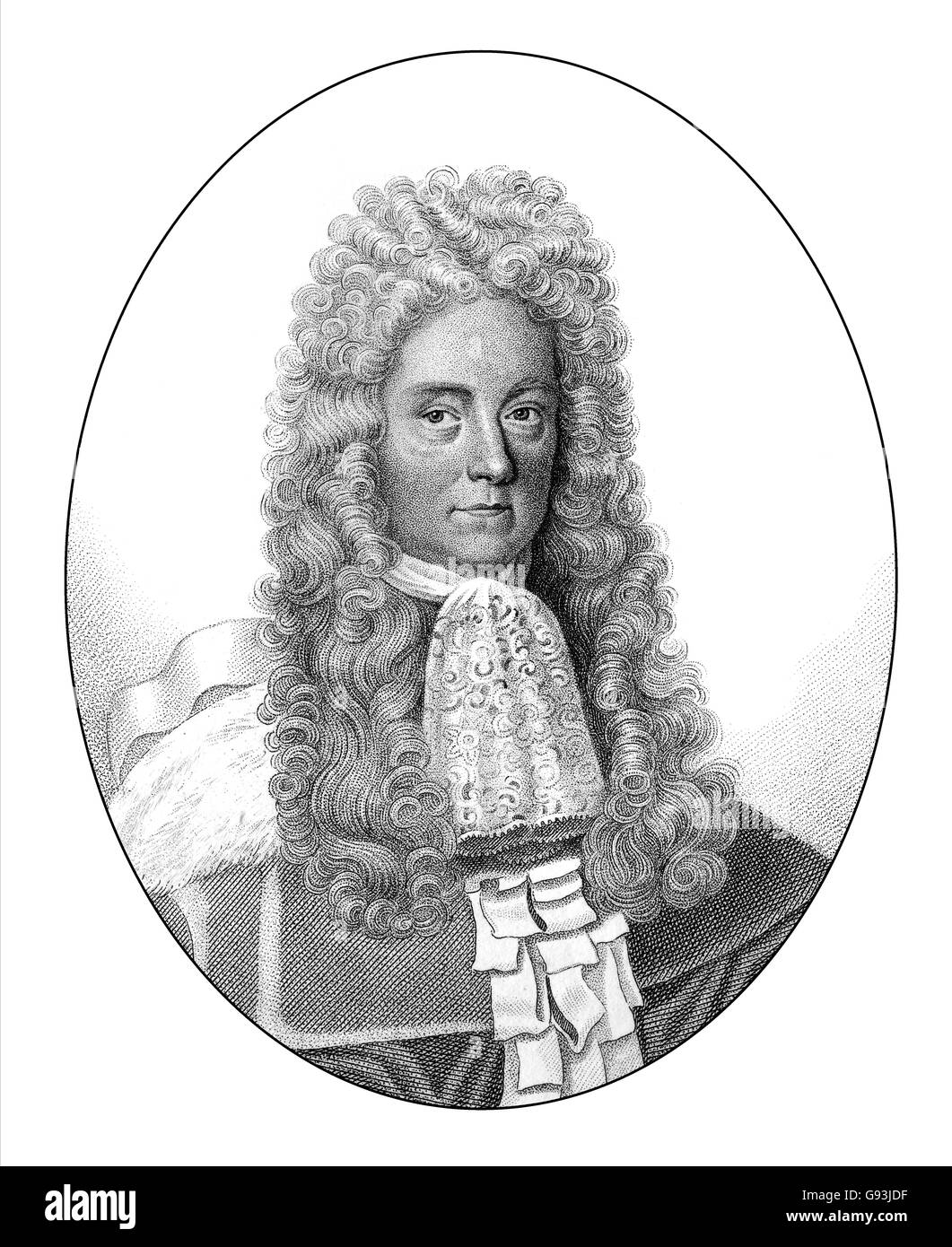 James Dalrymple, 1st Viscount of Stair, 1619-1695, a Scottish lawyer and statesman - Stock Image