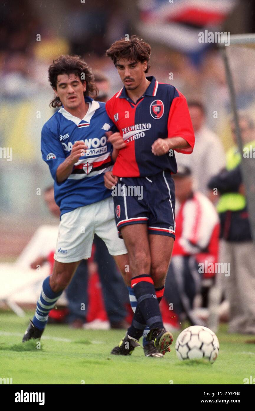 Italian Soccer Serie A Cagliari V Sampdoria Stock Photo