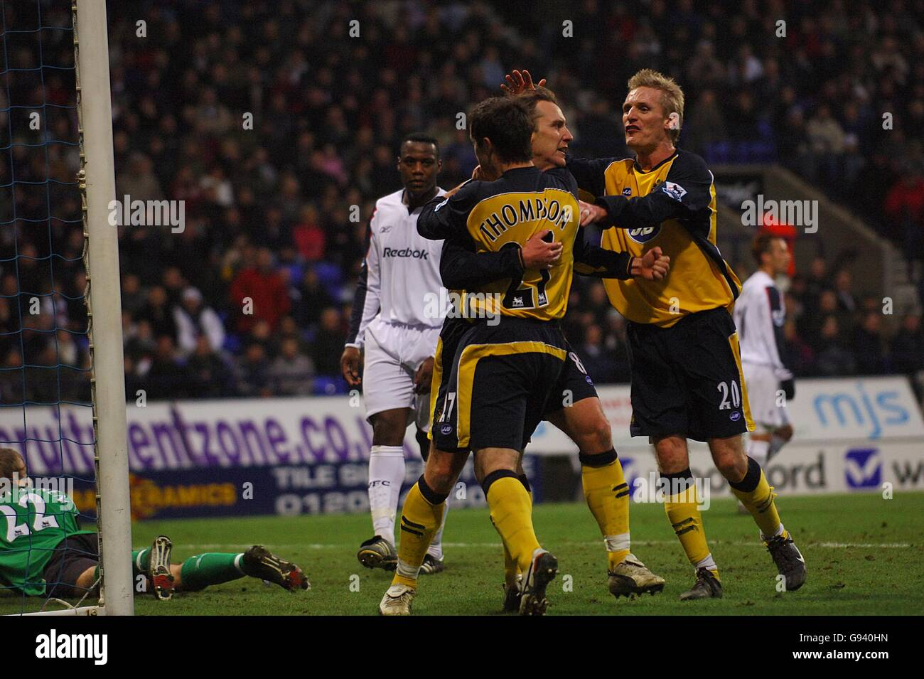 Soccer - FA Barclays Premiership - Bolton Wanderers v Wigan Athletic - Reebok Stadium Stock Photo