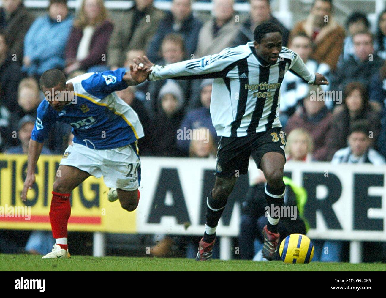 Soccer - FA Barclays Premiership - Newcastle United v Portsmouth - St James Park - Stock Image