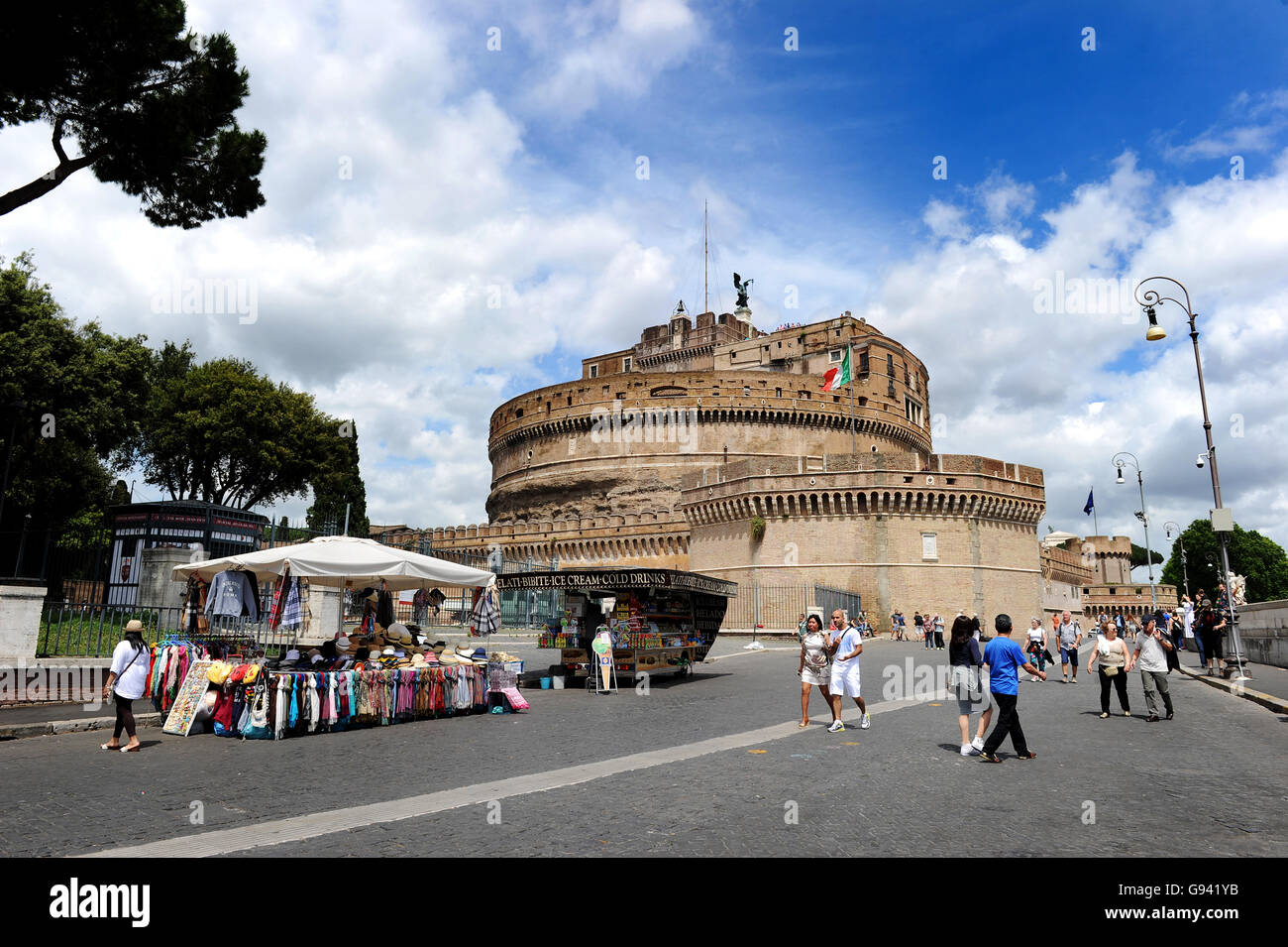 Rome, Italy. Castle Sant Angelo. Picture by Paul Heyes, Wednesday June 01, 2016. - Stock Image