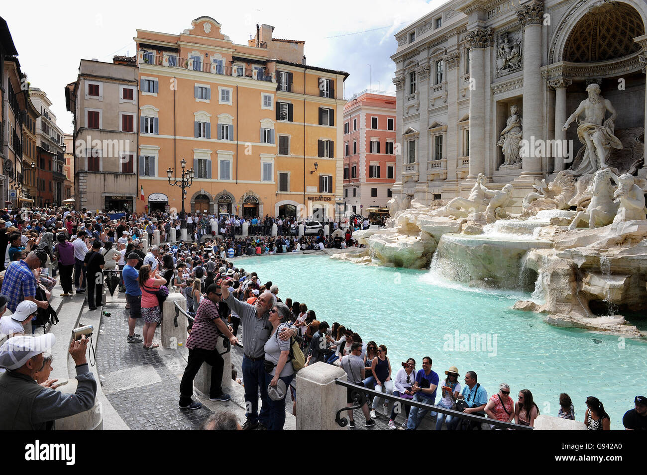 Rome, Italy. Trevi Fountain. Picture by Paul Heyes, Wednesday June 01, 2016. - Stock Image