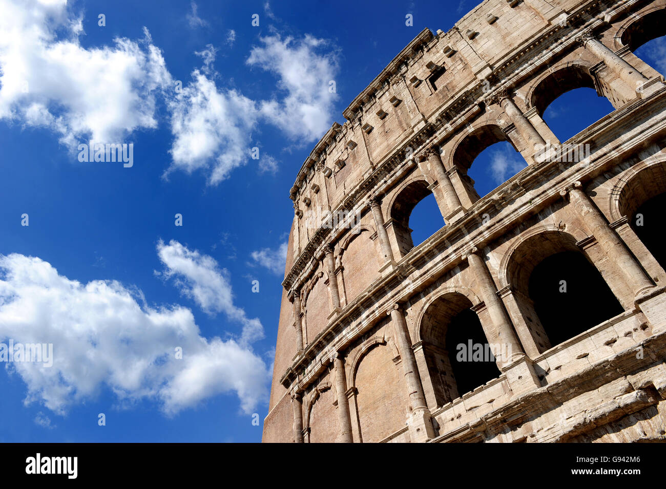 Rome, Italy. The Imperial Fora. Colosseum. Picture by Paul Heyes, Wednesday June 01, 2016.  Rome, Italy. Picture - Stock Image
