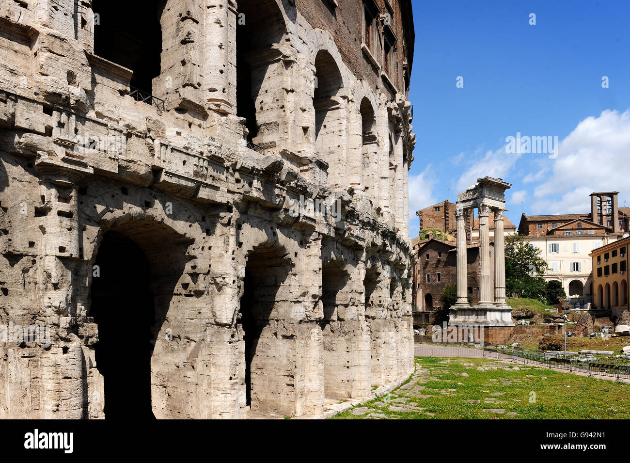 Rome, Italy. Theatre of Marcellus. Picture by Paul Heyes, Wednesday June 01, 2016. - Stock Image