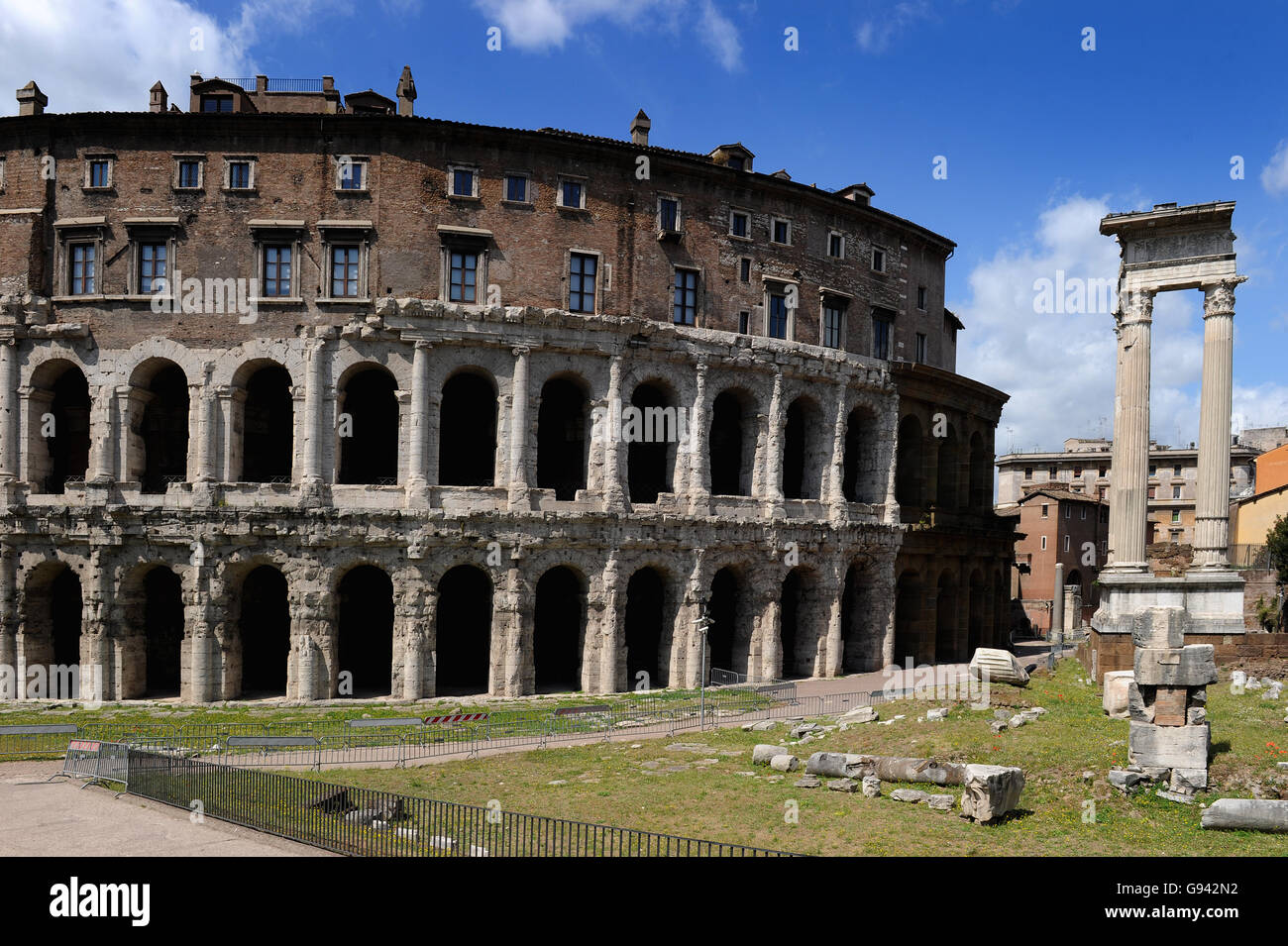 Rome, Italy. Theatre of Marcellus. Picture by Paul Heyes, Wednesday June 01, 2016. Rome, Italy. - Stock Image