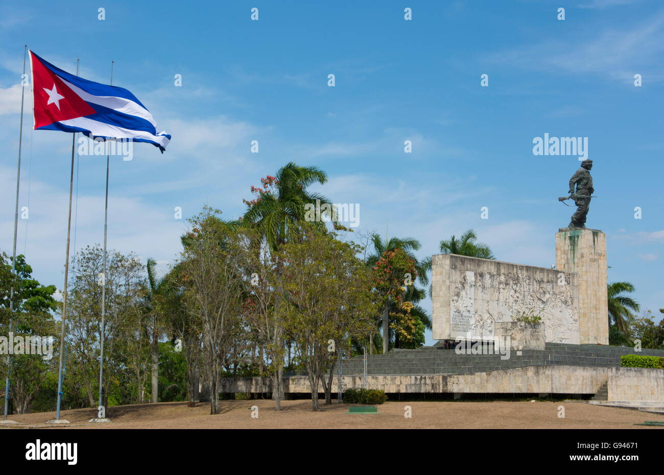 Santa Clara, Cuba memorial to Che Guevara hero of Revolution with statue and grave - Stock Image
