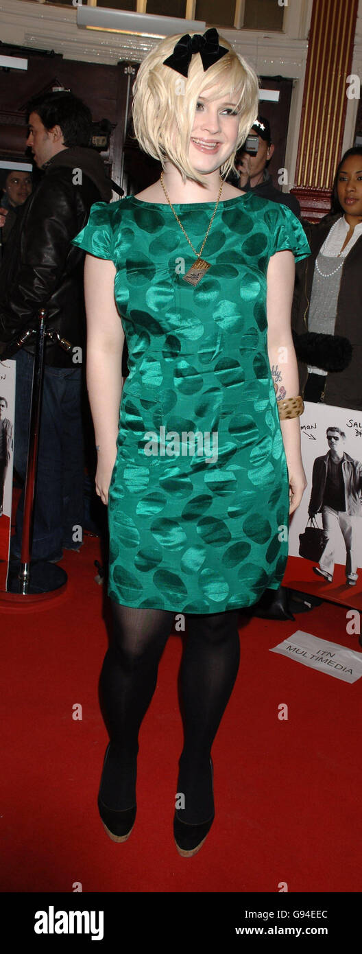 Kelly Osbourne arrives at the UK film premiere of 'The Matador', at the Notting Hill Coronet Cinema, west - Stock Image
