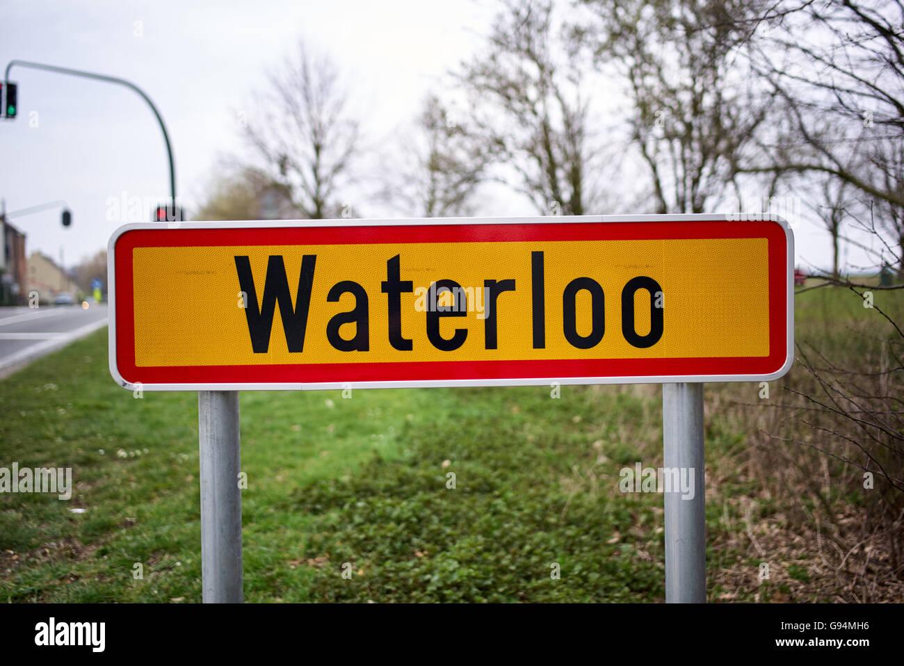 The site of the battlefield of Waterloo in Belgium - Stock Image