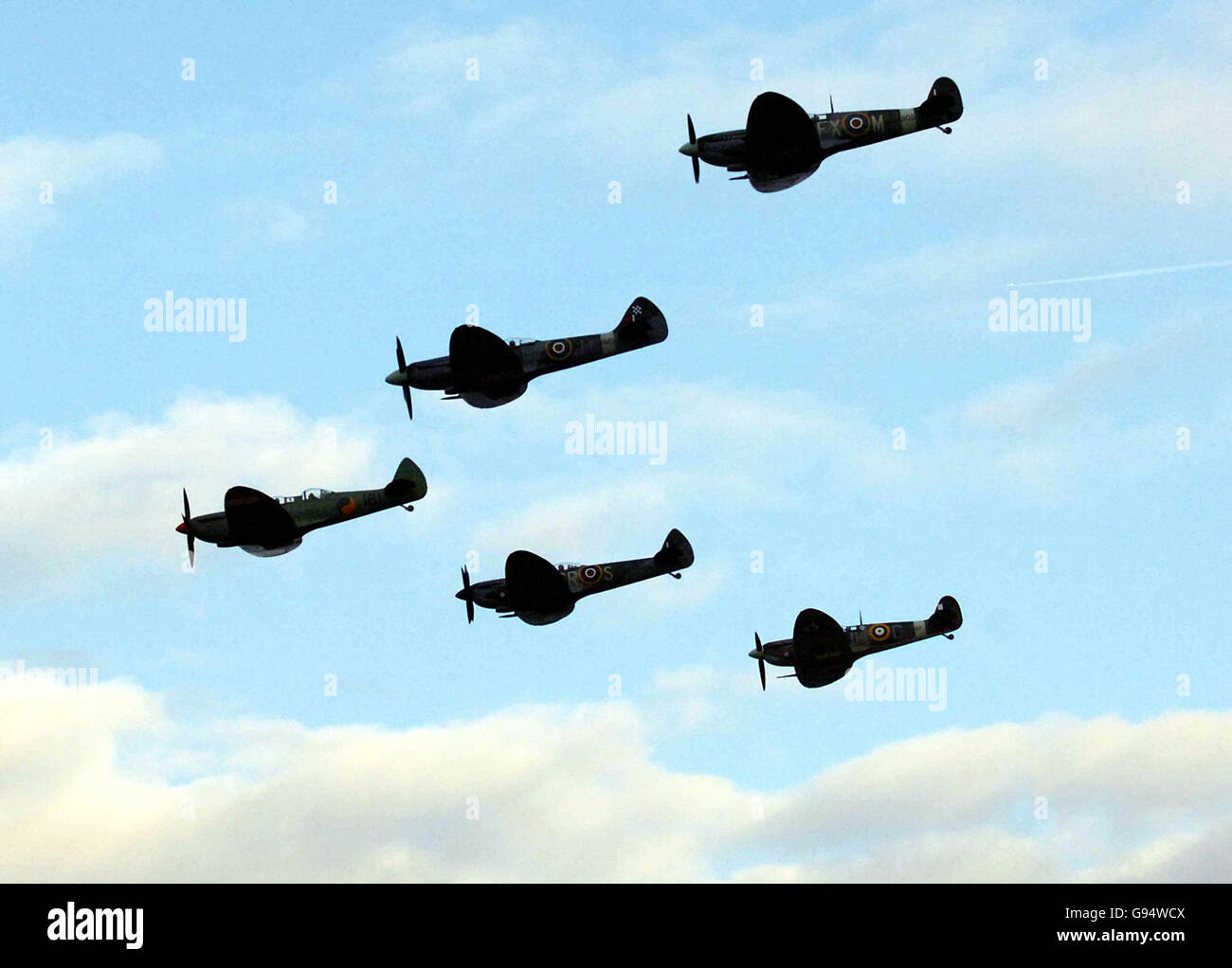 Spitfires - Southampton Airport - Stock Image