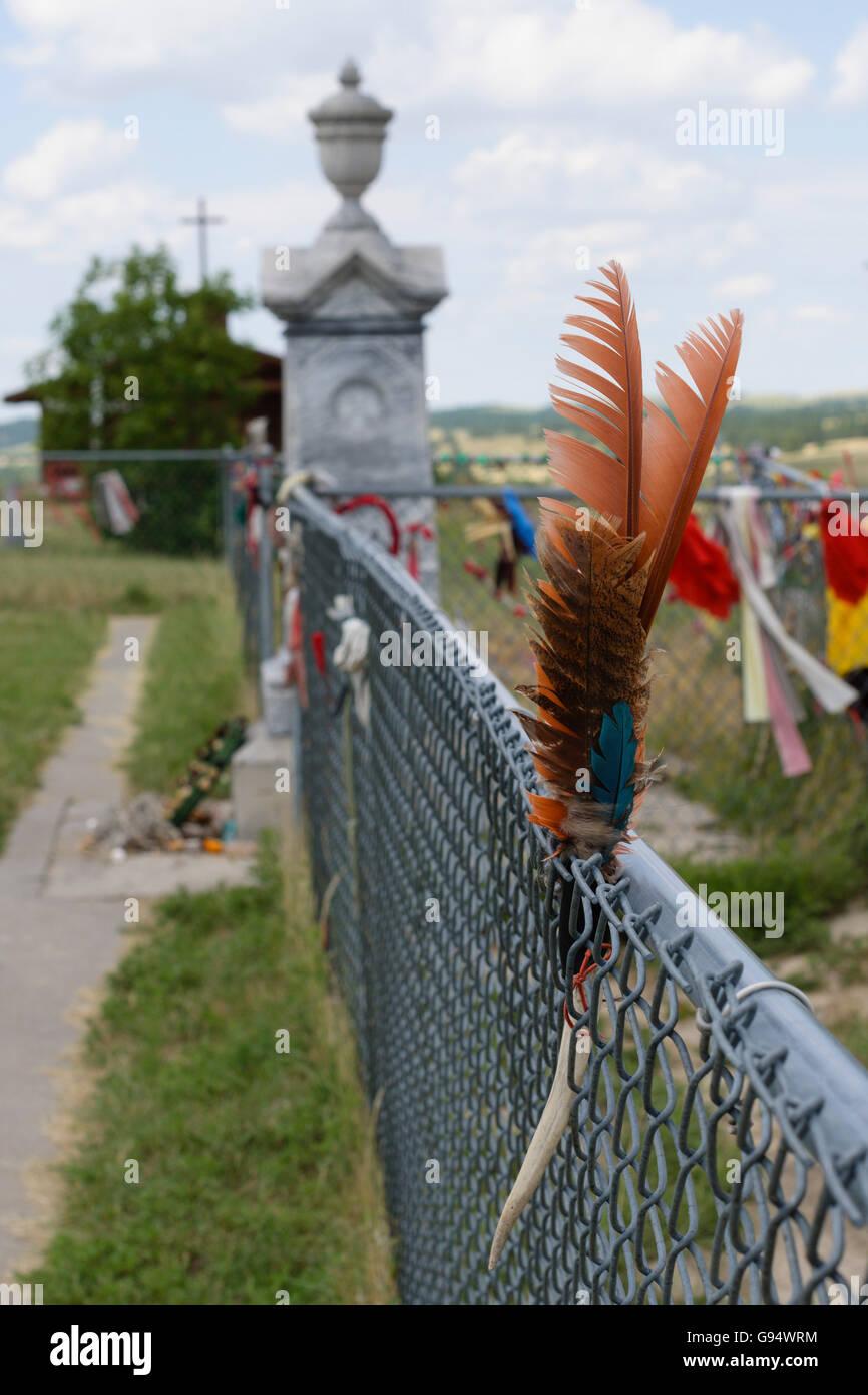Wounded Knee Massacre Monument, South Dakota, USA Stock Photo