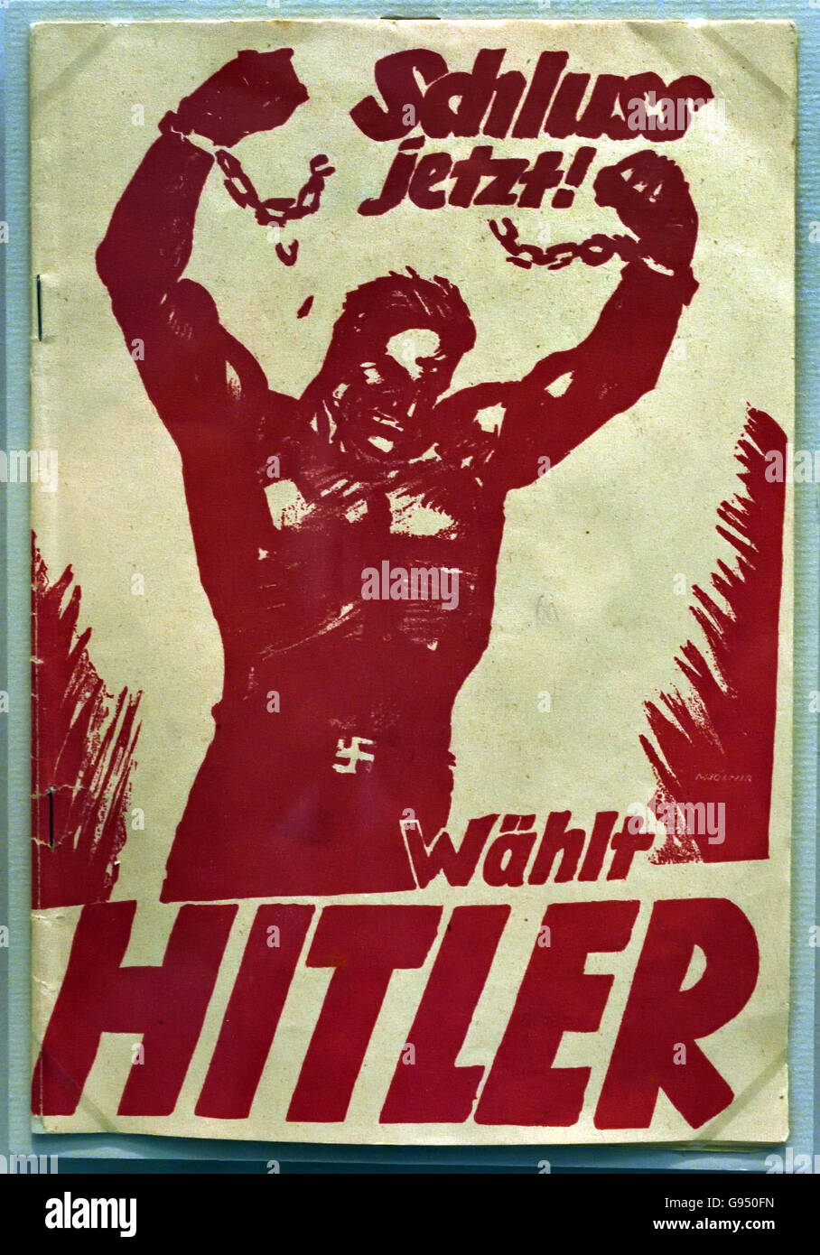 Schluss Jetzt -Wählt Hitler ( Final Now -Selects Hitler )elections Berlin Nazi Germany - Stock Image