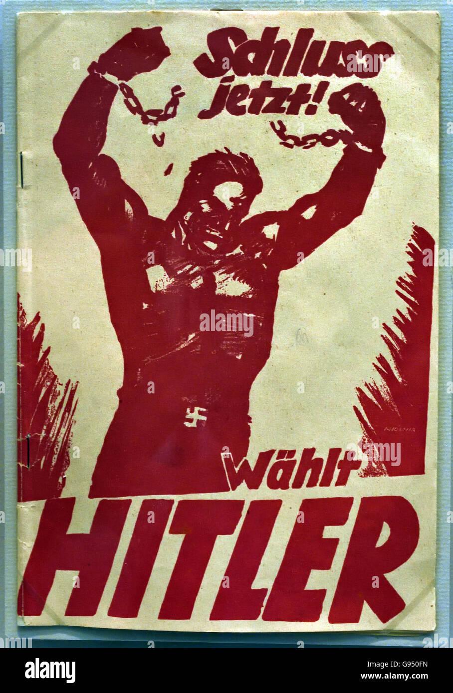 Schluss Jetzt -Wählt Hitler ( Final Now -Selects Hitler )elections Berlin Nazi Germany Stock Photo